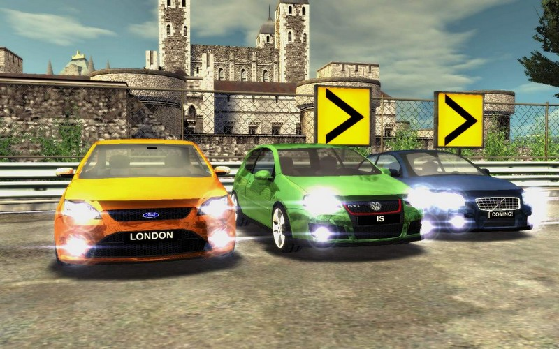 cars on london town big city racer game