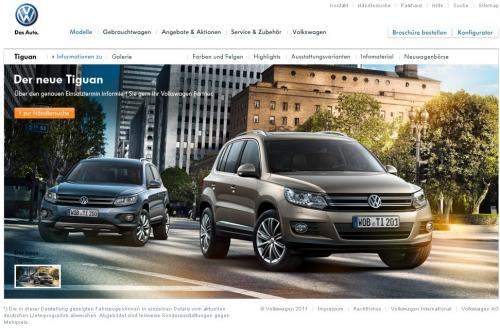 Le VW Tiguan 4×4 phase 2 au grand jour à cause d'une bourde