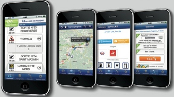 Les captures de l'application iphone Vinci Autoroutes
