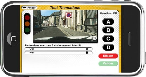 l'application iPhone code de la route