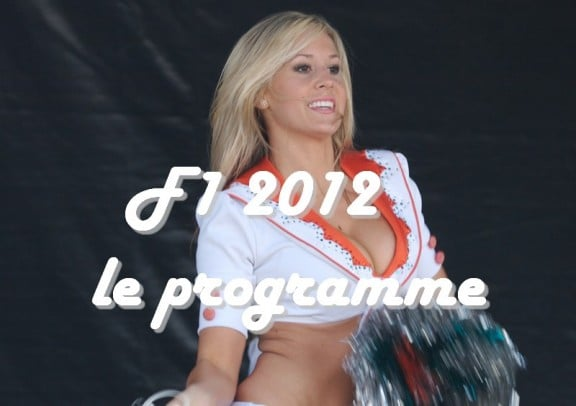une cheerleader en F1