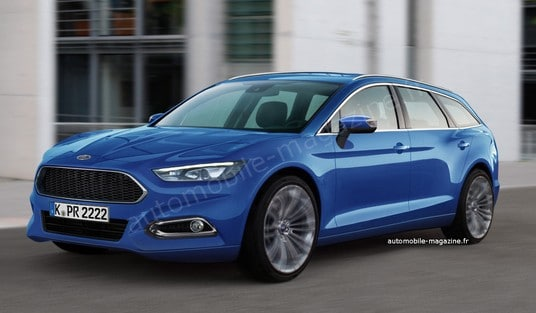 la ford mondeo 4 break 2012 en vue 3/4 avant