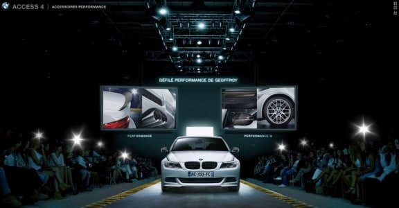 le defile virtuel performance bmw access 4