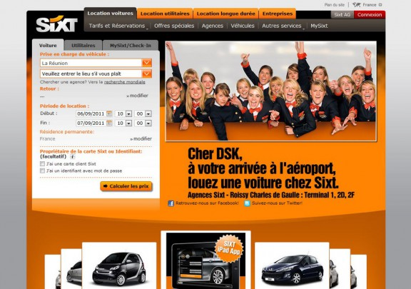 dominique strauss kahn sur le site de location sixt