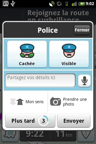 waze l 39 application iphone gps radar gratuite. Black Bedroom Furniture Sets. Home Design Ideas
