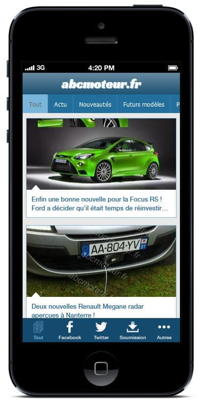 future application iphone du blog