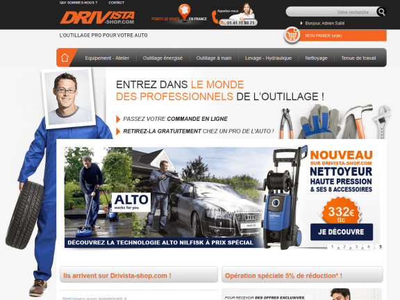 Le site internet Drivista-shop