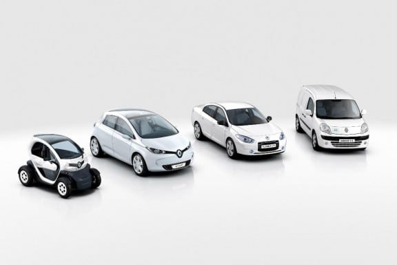 Gamme Renault vehicules electriques