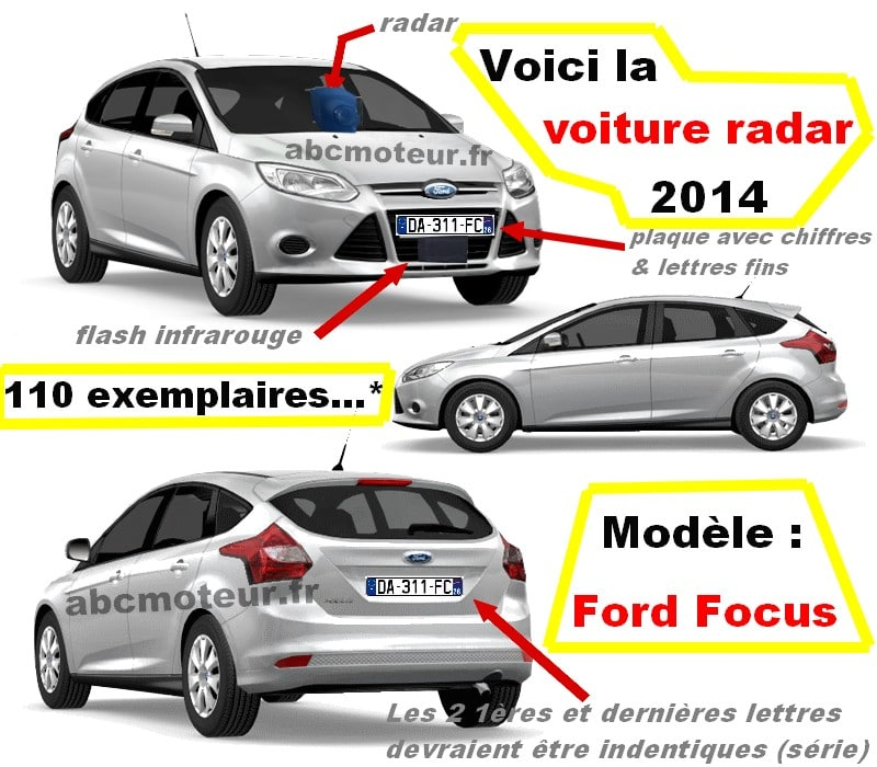 Ford Focus avec radar embarqué mobile mobile, quenelle 2014 !