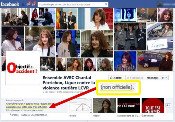 fausse page facebook lcvr