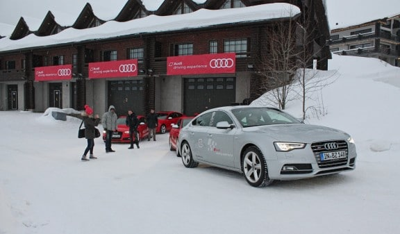 depart hotel audi driving experience