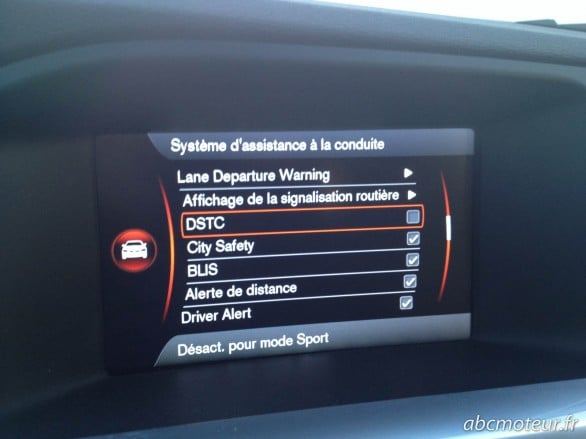 odb systeme assistance conduite mode sport DSTC