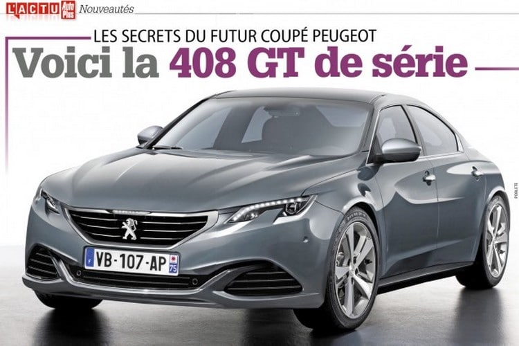 serait ce le visage de la future peugeot 408 gt. Black Bedroom Furniture Sets. Home Design Ideas