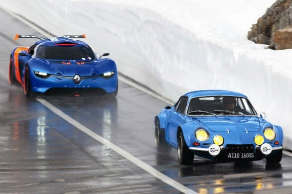 L'Alpine A110 suivie du concept-car A110-50