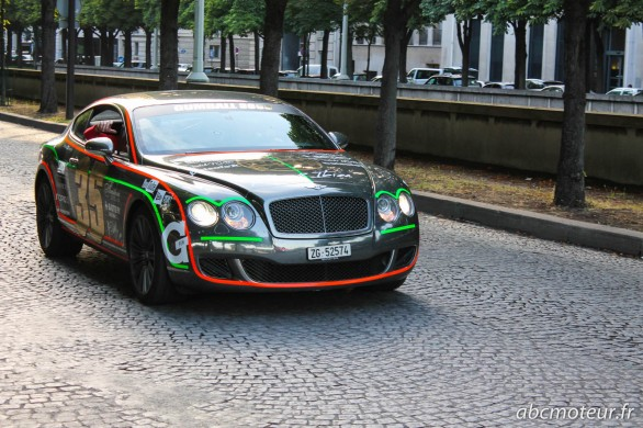 Bentley Continental GT Gumball Paris