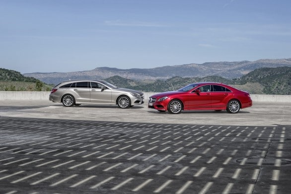 Mercedes CLS berline vs break