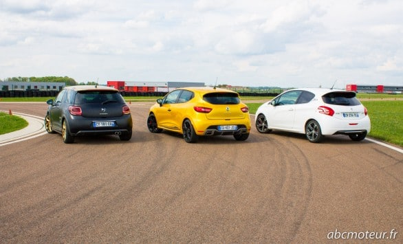 DS3 R VS Clio 4 RS VS 208 GTi