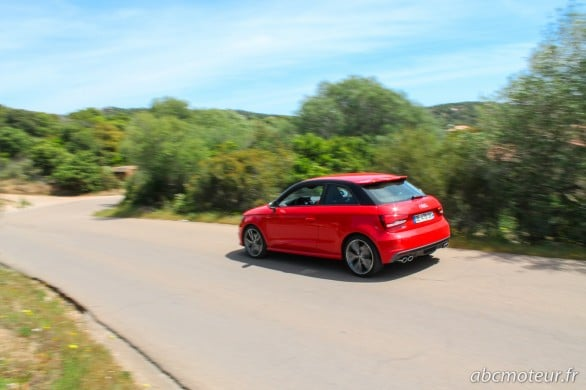 route sinueuse Audi S1