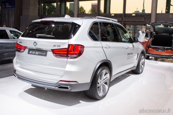 BMW X5 hybrid plug in Paris 2014