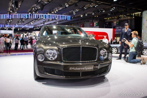 avant Bentley Mulsanne Speed Paris 2014