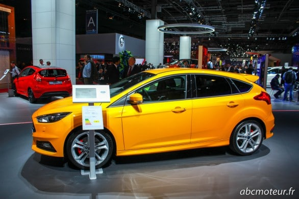 profil Ford Focus ST restylee Paris 2014