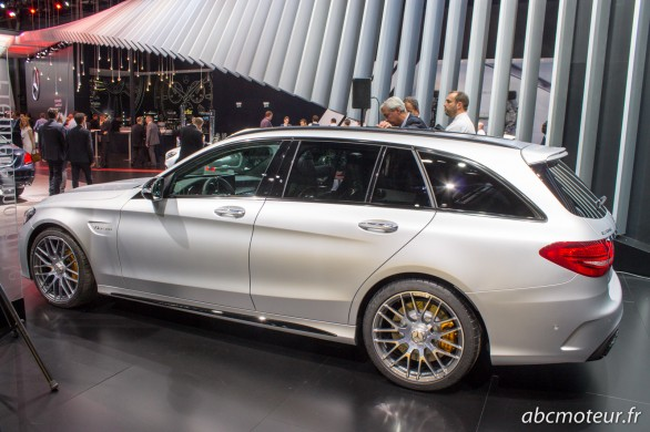 profil Mercedes C 63 AMG break Paris 2014