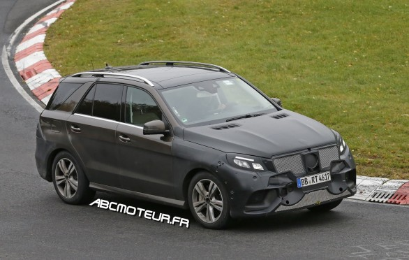 spyshot Mercedes ML-GLE Plugin hybrid
