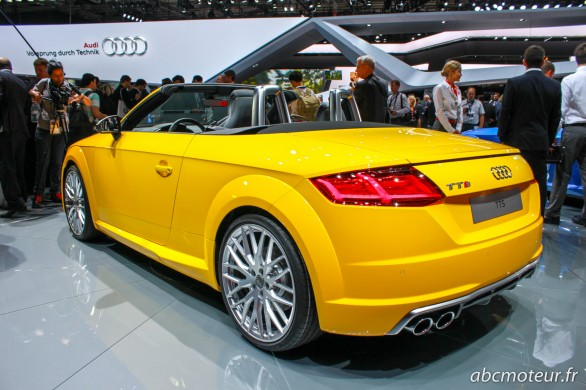 vue 3-4 ar Audi TTS roadster Paris 2014