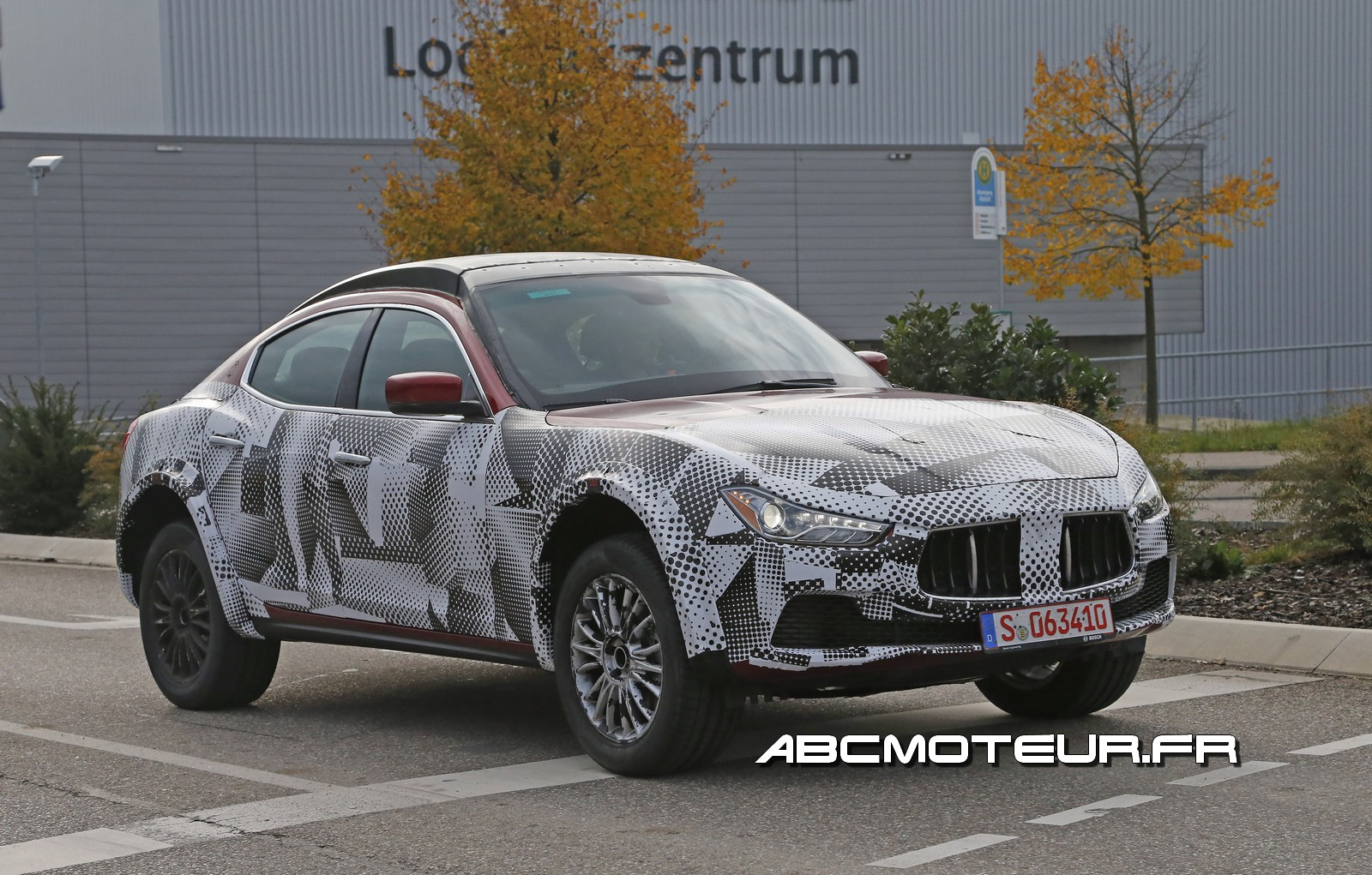Photos espions du SUV made in Maserati !
