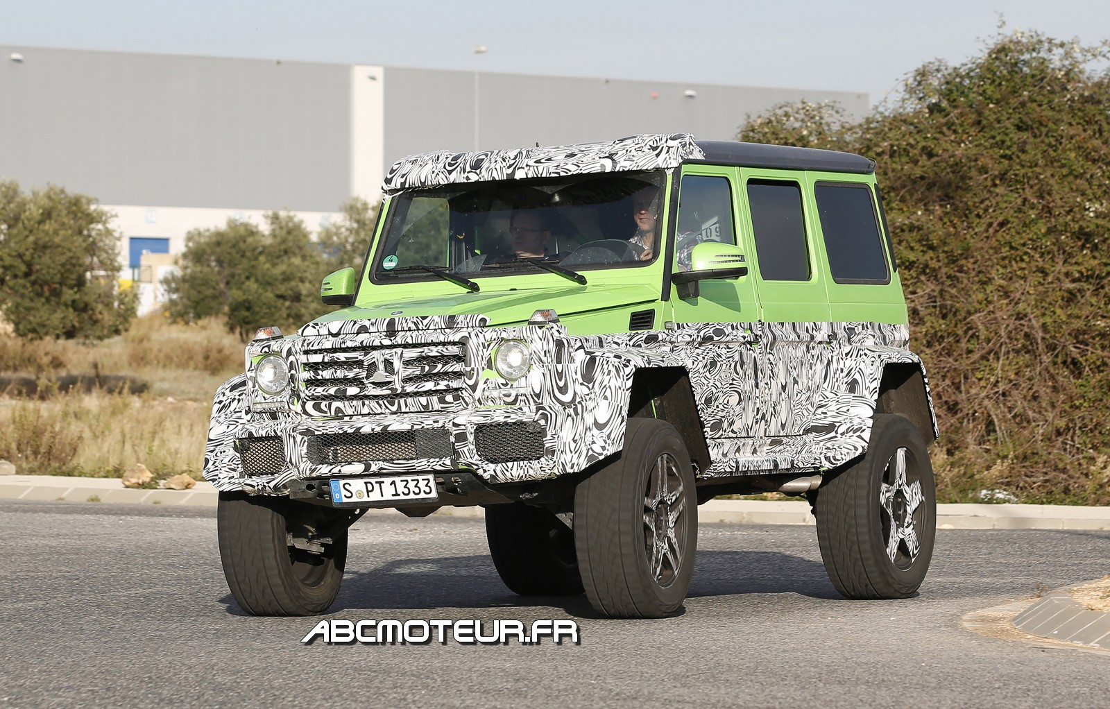 Mercedes G 63 AMG : « Green Monster » perd 2 roues !