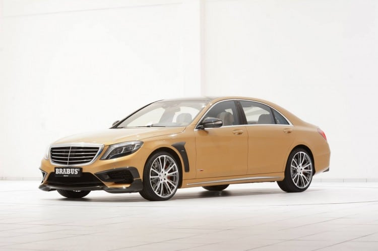 Mercedes S 63 AMG Brabus gold