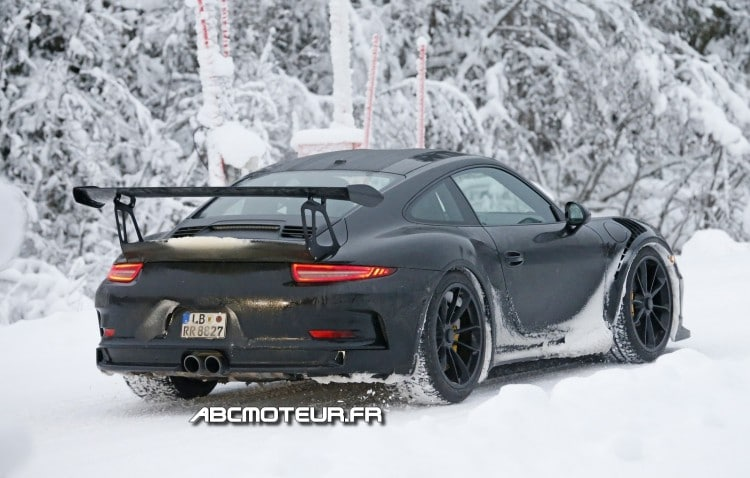 vue 3-4 arriere 911 991 GT3 RS