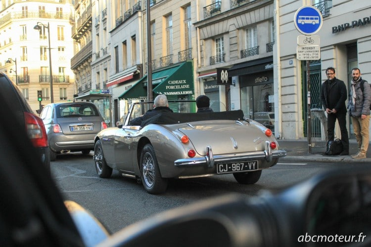 Austin Healey Traversee Paris hivernale 2015