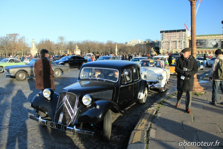 Citroen Traction Traversee Paris hivernale 2015