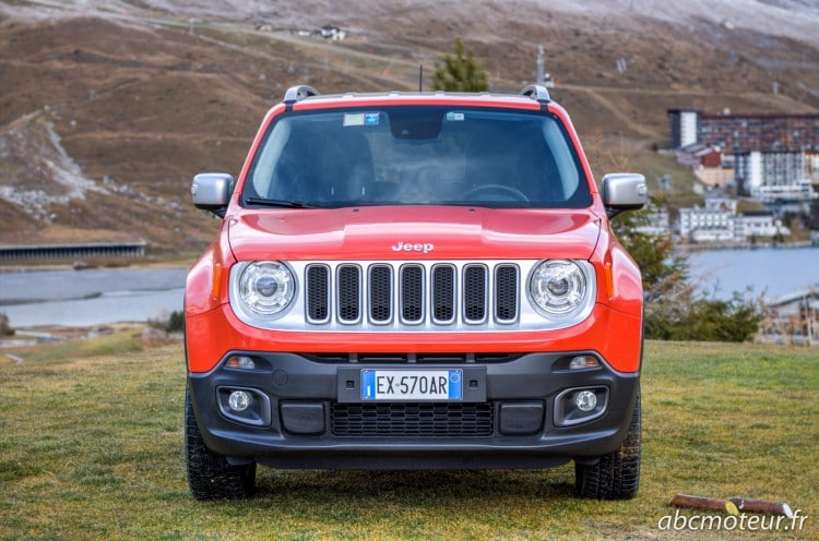 avant Jeep Renegade