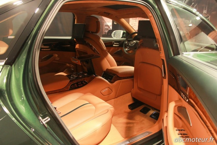places arriere Audi A8 L W12 Exclusive