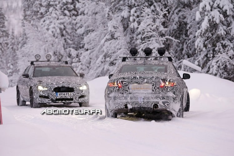 test hivernal Jaguar XF 2015