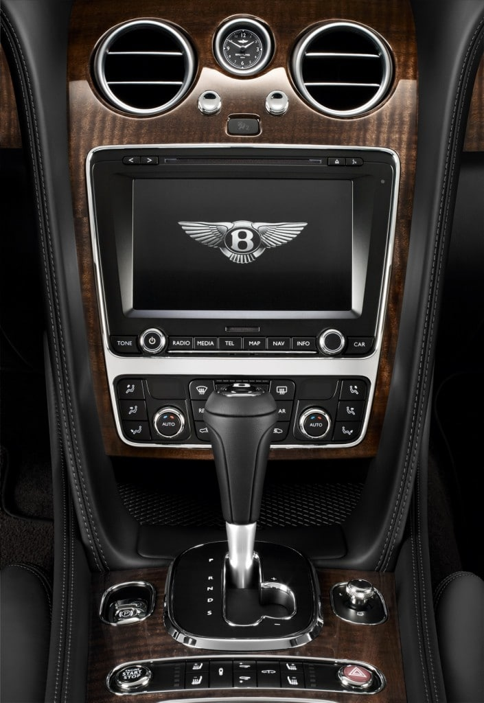 console centrale Bentley Continental