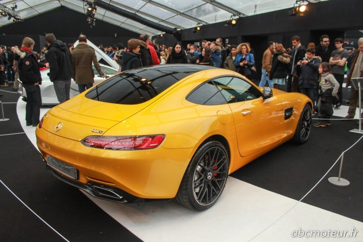 vue 3-4 arriere Mercedes AMG GT S
