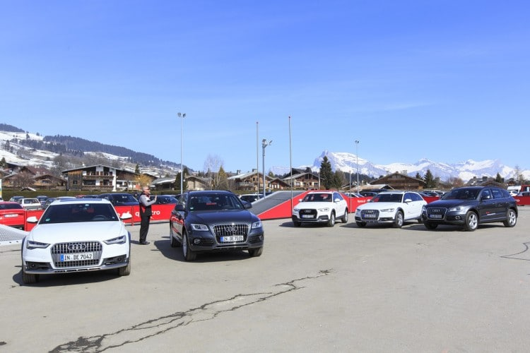 Audi driving experience Megeve