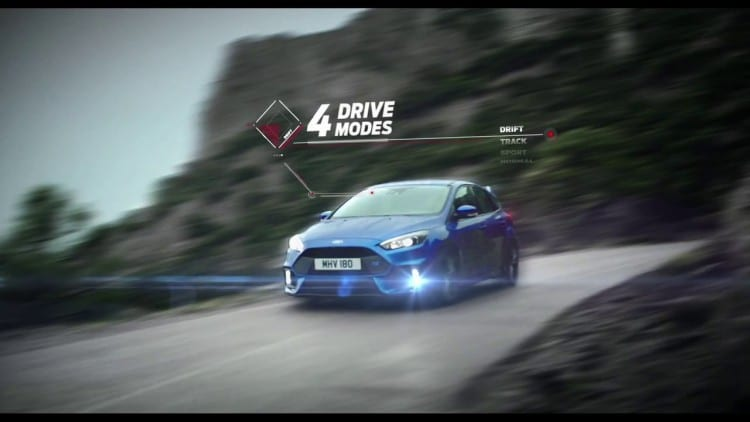 Ford Focus RS 2015 modes conduite