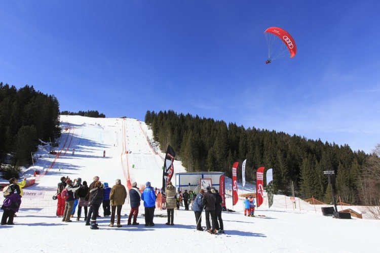 parapente AudiFIS Megeve