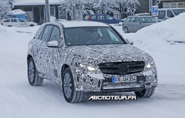 prototype Mercedes GLC plug-in hybrid