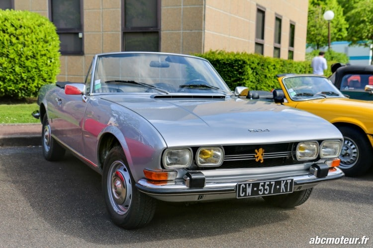 Peugeot 504 Cabriolet rassemblement Bailly