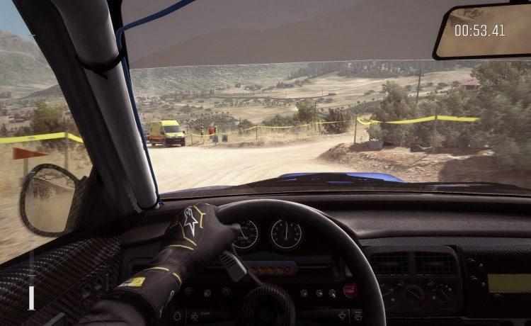 vue interieure DiRt Rally