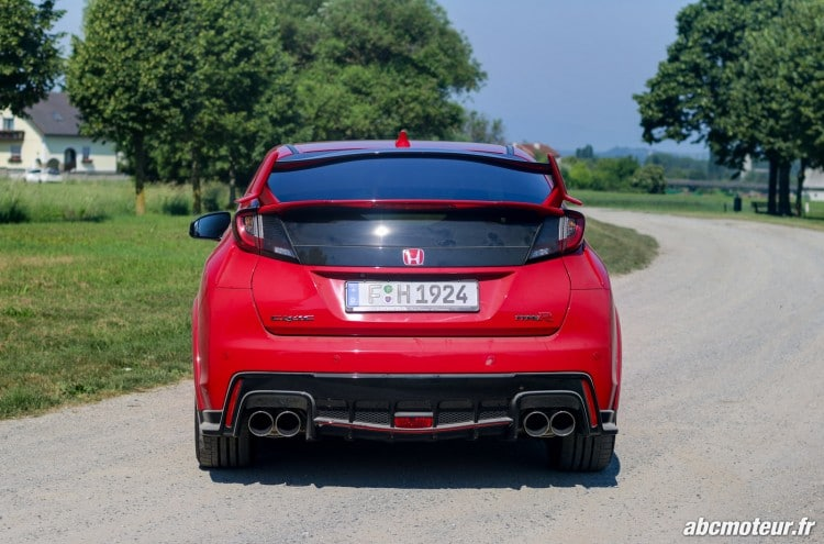arriere Honda Civic Type R FK2