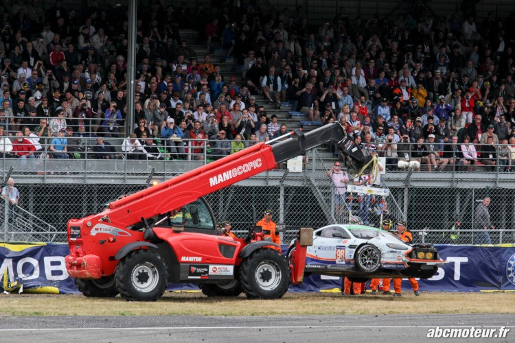 crash GTE AM 24 H du Mans 2015