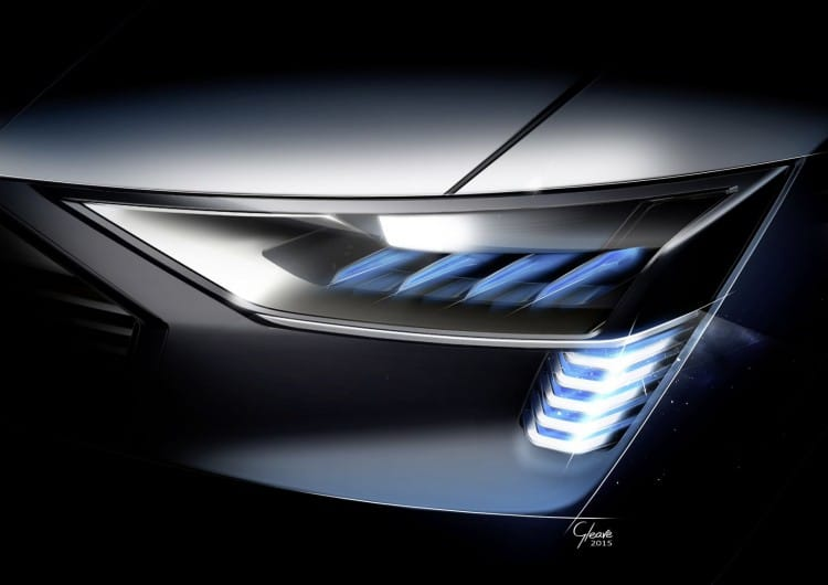 Audi e-tron quattro concept – Headlight with e-tron light sign