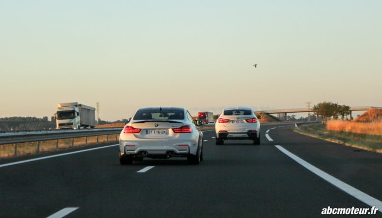BMW M4 Safety Car X6 M50d autoroute