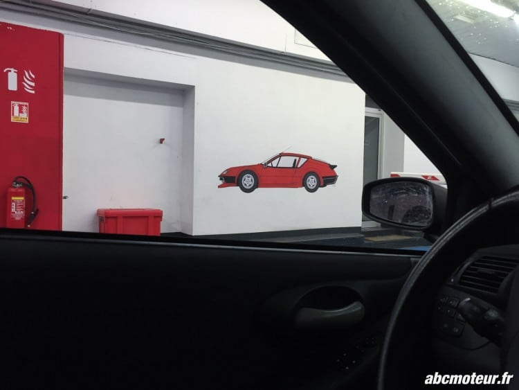 Alpine A310 parking Redele